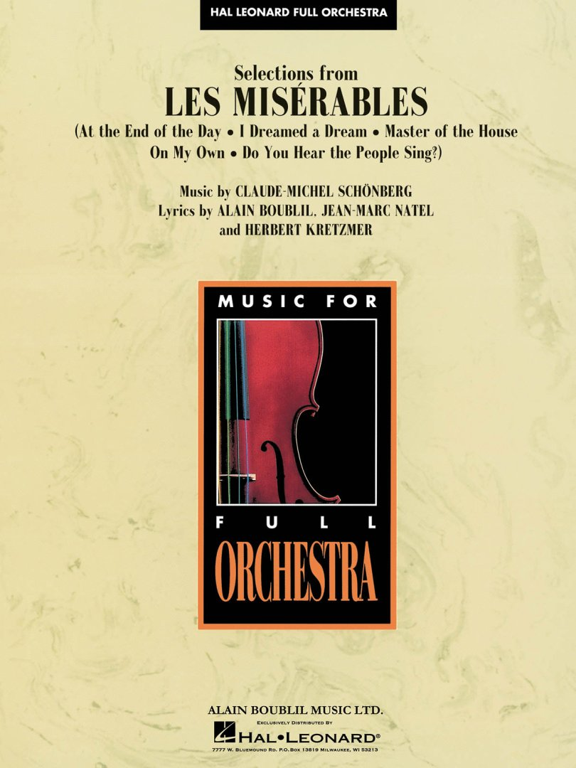 a review of the play les misearables by alain boublil and claude michel schnberg Of the les miserables songbook by alain boublil at barnes & noble by alain boublil, claude-michel schonberg | read most helpful customer reviews.