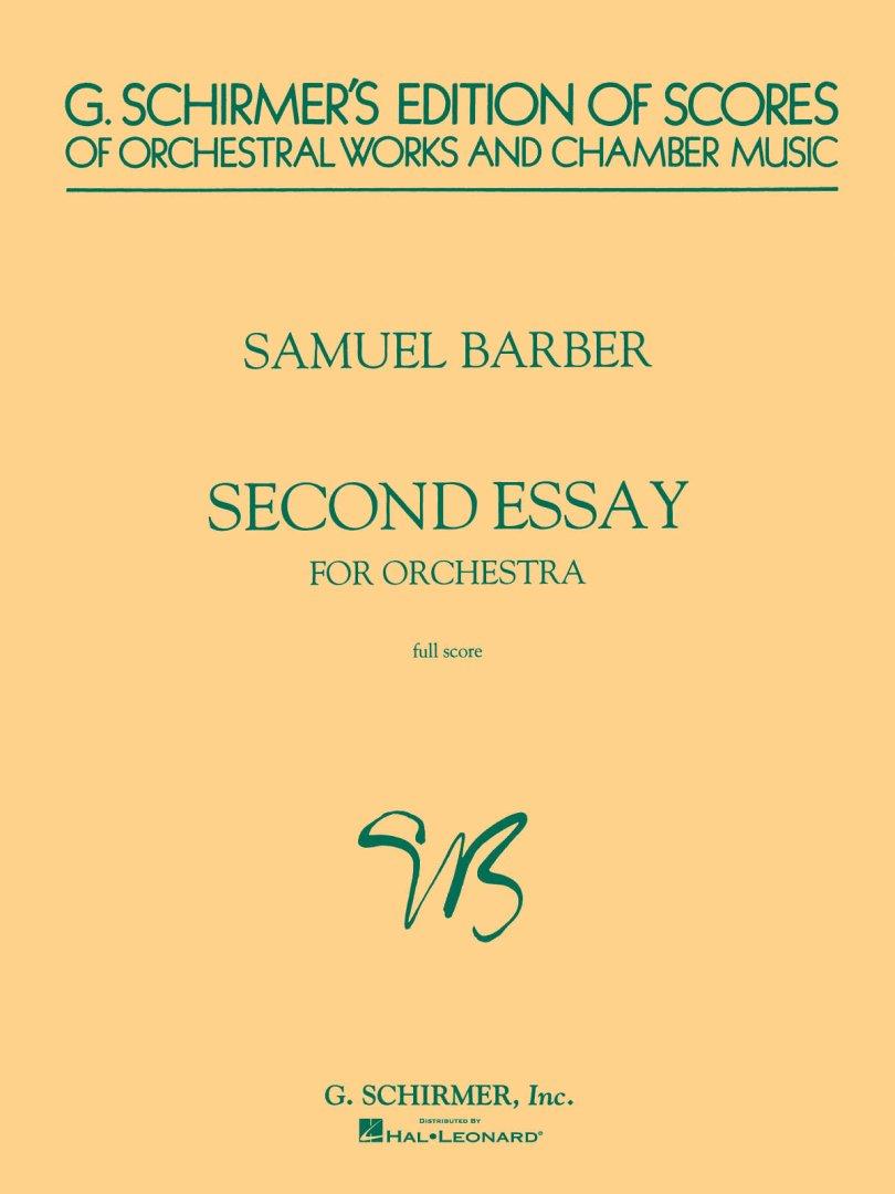 second essay for orchestra op. 17 Atlanta symphony orchestra & yoel levi 'second essay, op 17' added on 11th jul 2012 notify me by e-mail when atlanta symphony orchestra & yoel levi 'second essay.