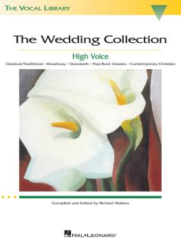 The Wedding Collection: The Vocal Library High Voice (HL-00000443)
