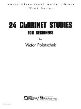 24 Clarinet Studies for Beginners (Clarinet Method) (HL-00008301)