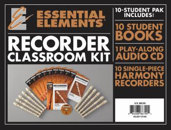 Essential Elements for Recorder Classroom Kit: Includes 1 Student Book (HL-00113155)