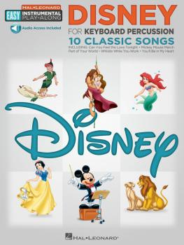 Disney: Keyboard Percussion Easy Instrumental Play-Along Book with Onl (HL-00122194)