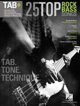 25 Top Rock Bass Songs: Tab. Tone. Technique. (HL-00125929)