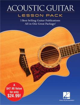 Acoustic Guitar Lesson Pack: 5 Best-Selling Guitar Publications in One (HL-00131554)
