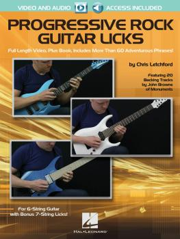 Progressive Rock Guitar Licks (Featuring 20 Backing Tracks by John Bro (HL-00142325)