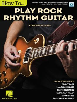 How to Play Rock Rhythm Guitar: Book with Online Video Lessons (HL-00146261)