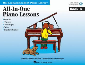 All-In-One Piano Lessons Book B: Book with Audio and MIDI Access Inclu (HL-00296776)