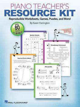 Piano Teacher's Resource Kit: Reproducible Worksheets, Games, Puzzles, (HL-00296802)