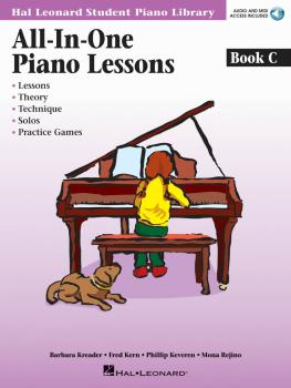 All-in-One Piano Lessons Book C: Book with Audio and MIDI Access Inclu (HL-00296851)