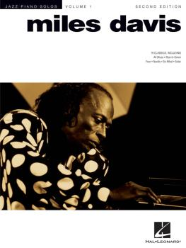 Miles Davis - 2nd Edition: Jazz Piano Solo Series Volume 1 (HL-00306521)