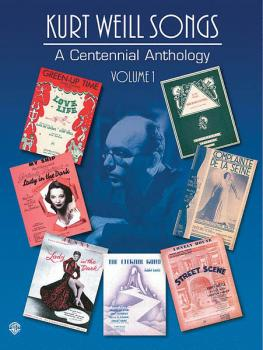 Kurt Weill Songs - A Centennial Anthology - Volume 1 (HL-00321571)
