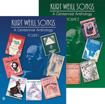 Kurt Weill Songs - A Centennial Anthology - Volumes 1 & 2 (2-Book Set) (HL-00321574)