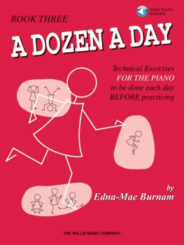 A Dozen a Day Book 3 - Book/Audio (HL-00416760)