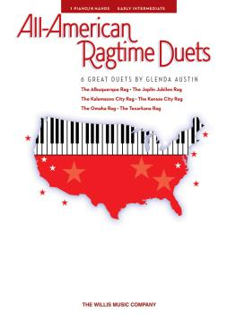 All-American Ragtime Duets: 1 Piano, 4 Hands/Early Intermediate Level (HL-00416822)