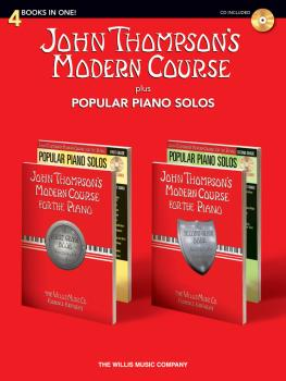 John Thompson's Modern Course plus Popular Piano Solos (4 Books in One (HL-00416865)