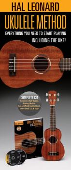 Hal Leonard Ukulele Starter Pack: Includes a Ukulele, Method Book with (HL-00650804)