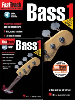 FastTrack Bass Method Starter Pack: Book/Online Audio/DVD Pack (HL-00696404)