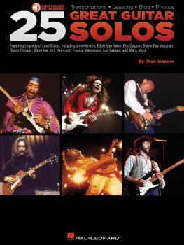 25 Great Guitar Solos: Transcriptions · Lessons · Bios · Photos (HL-00699721)