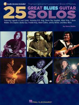 25 Great Blues Guitar Solos: Transcriptions · Lessons · Bios · Photos (HL-00699790)
