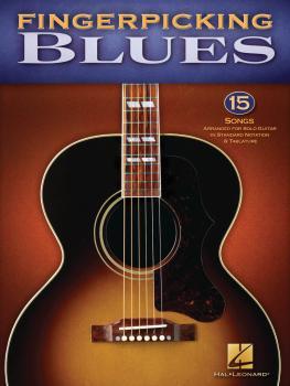 Fingerpicking Blues: 15 Songs Arranged for Solo Guitar in Standard Not (HL-00701277)