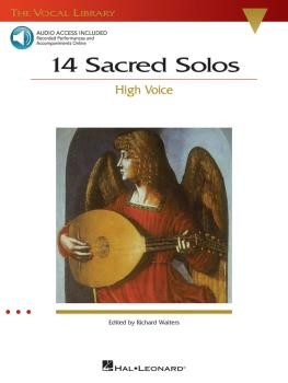 14 Sacred Solos: The Vocal Library High Voice (HL-00740292)