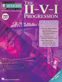 The II-V-I Progression: Jazz Play-Along Lesson Lab Volume 177 Book wit (HL-00843239)