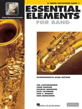Essential Elements for Band - Bb Tenor Saxophone Book 1 with EEi (HL-00862573)