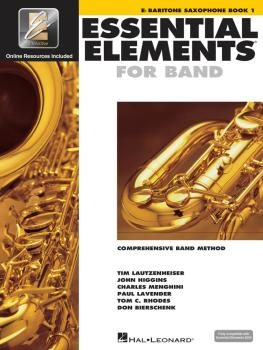 Essential Elements for Band - Eb Baritone Saxophone Book 1 with EEi (HL-00862574)