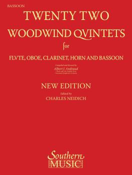 22 Woodwind Quintets - New Edition (Bassoon Part) (HL-03770289)