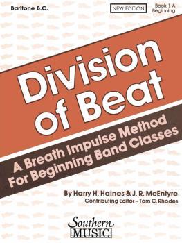Division of Beat (D.O.B.), Book 1A (Baritone B.C.) (HL-03770454)
