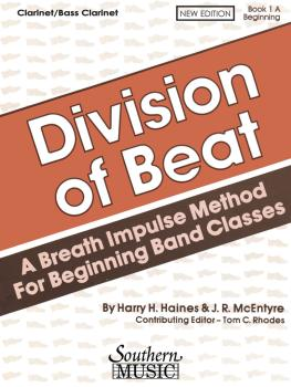 Division of Beat (D.O.B.), Book 1A: Clarinet/Bass Clarinet (HL-03770457)