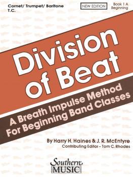Division of Beat (D.O.B.), Book 1A: Trumpet/Cornet/Baritone T.C. (HL-03770458)