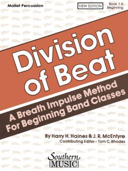 Division of Beat (D.O.B.), Book 1A (Percussion/Mallets) (HL-03770462)