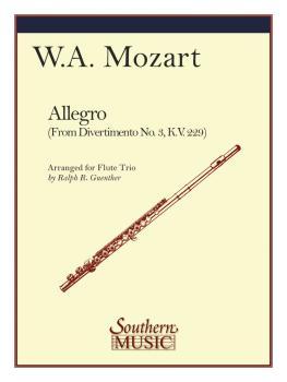 Allegro (from Divertimento No. 3 K229) (Flute Trio) (HL-03774123)