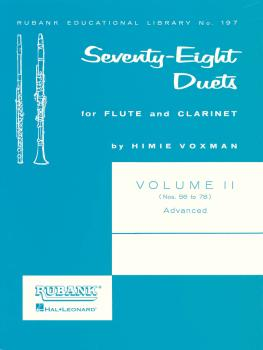 78 Duets for Flute and Clarinet: Volume 2 - Advanced Nos. 56-78 (HL-04471050)