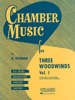 Chamber Music for Three Woodwinds, Vol. 1 (for Flute, Oboe or Second F (HL-04474580)
