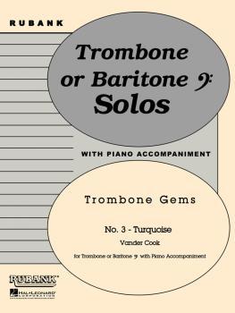 Turquoise: Trombone Baritone B.C. Solo with Piano - Grade 2 (HL-04479254)