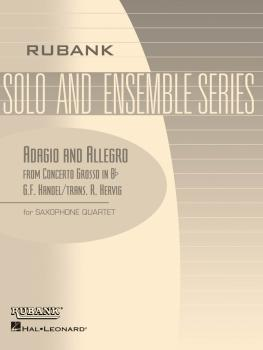 Adagio and Allegro (from Concerto Grosso in B Flat): Saxophone Quartet (HL-04479590)