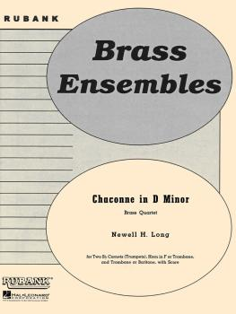Chaconne in D Minor: Brass Quartet - Grade 4 (HL-04479728)