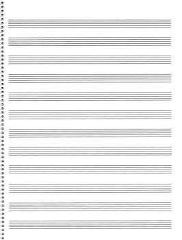 65. Spiral Book: 12-stave: Passantino Manuscript Paper (HL-14025115)