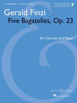 Five Bagatelles, Op. 23: Clarinet in B-flat and Piano with online audi (HL-48021224)