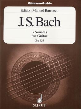 3 Sonatas for Guitar Solo (from Sonata for Violin, BWV 1001, 1003 and  (HL-49010947)