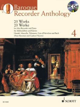 Baroque Recorder Anthology, Vol. 4: 23 Works for Alto Recorder and Pia (HL-49018840)