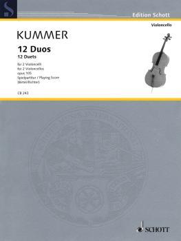 12 Duets, Op. 105: Two Violoncellos Performance Score (HL-49019118)