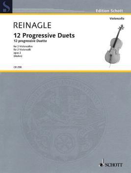 12 Progressive Duets, Op. 2: Two Cellos Performance Score (HL-49019728)