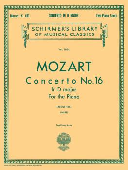 Concerto No. 16 in D, K.451: National Federation of Music Clubs 2014-2 (HL-50262290)