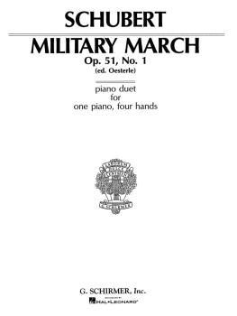 Military March, Op. 51, No. 1 (Piano Duet) (HL-50267860)