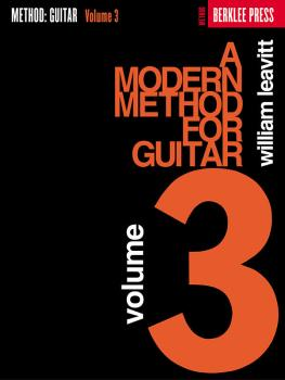 A Modern Method for Guitar - Volume 3 (HL-50449420)