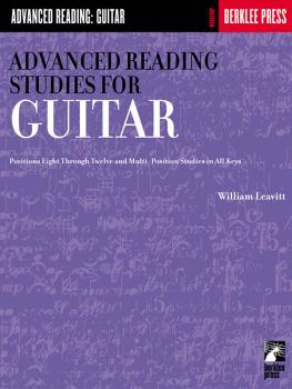 Advanced Reading Studies for Guitar (Guitar Technique) (HL-50449500)