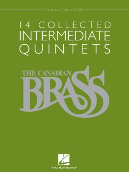 14 Collected Intermediate Quintets: Brass Quintet Conductor's Score (HL-50486959)